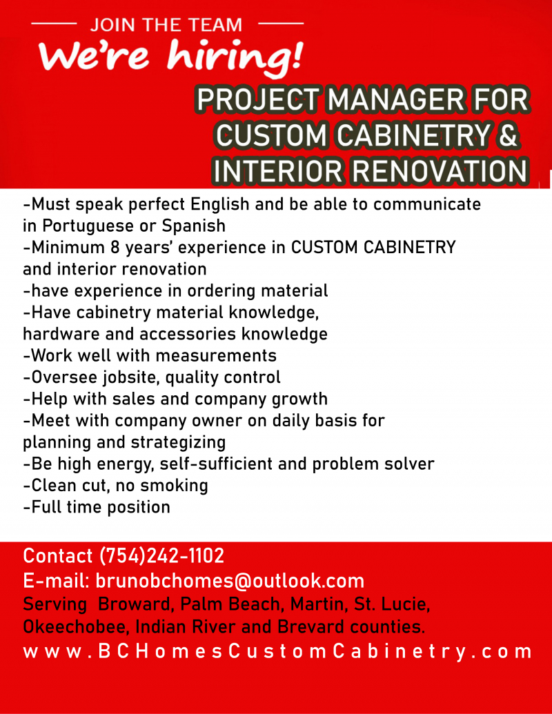 Project Manager for Custom Cabinetry & Interior Renovation