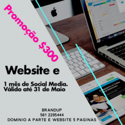 Promoção $300 Website e 01 Mês de Social Media