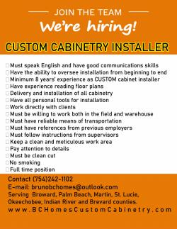 Custom Cabinetry Installer