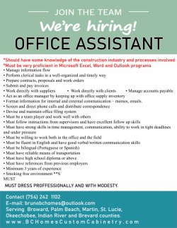 Construction Office Assistant