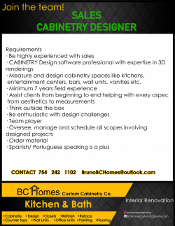 Experienced Cabinetry designer / Sales